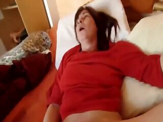 She is so horny all she wants is something up her hairy pussy.
