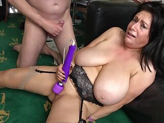 Mature UK sub with big tits gets roughfucked