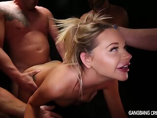 Gang banging and creampie with Rachele Richey