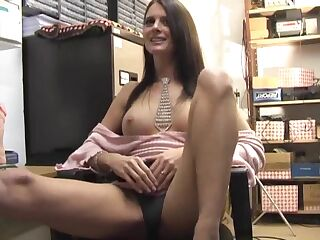 Lovely babe Karina Currie moans while playing with her pussy