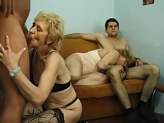 Hungarian blond pissing granny anal