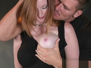 BDSM XXX Beautiful Red head has her tight holes filled with big cock