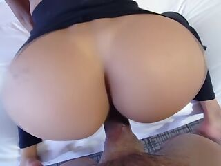 Stepson and stepmom head to the bedroom and she sucks his dick