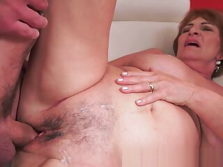 Busty grandma loves getting pounded