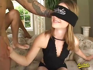 Two big cocks drilling Kelsey's pussy hardcore