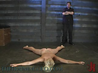 Throat and Pussy Fuck For a Tied Up Blonde In BDSM Sex Vid