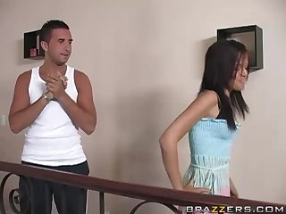 Horny Adurianna Angel Fucking Her Friend's Big Brother's Cock