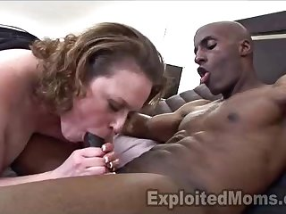 Naturally Busty Milf Gets The Ride Of Her Life In An Interracial Clip