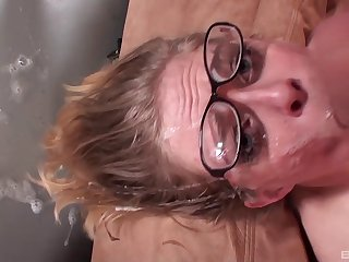 Cocksucking Penny Pax gags on the boner in her throat