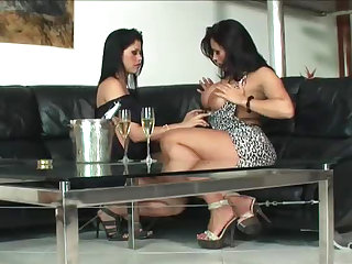 Brazilian Lesbians Scissoring Before Getting Anal Fuck By a Big Dick