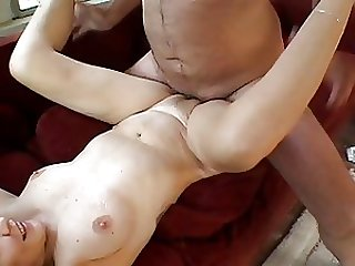 Blonde Granny Gets Anal Fucked and Creampied by Big Young Cock