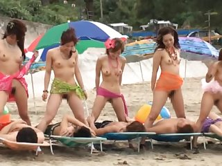 Incredibly Wild All-Asian Beach Orgy