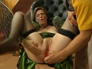 Blonde Granny Gets Lucky