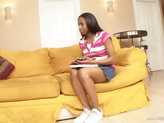 Horny Babysitter Mocha Love Banged By Her Boss' Fat Rod