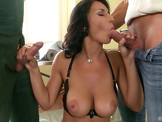 House painters strip and fuck the chick in a sexy pink blouse