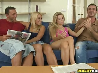 Nikky Thorne And Michelle Moist Getting Fucked In Awesome Foursome
