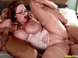 Katie Kox Having Fun With Two Cocks