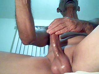 Exhibitionis solo orgasm big-cock noisy