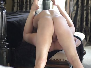 Beautiful maid with a shaved cunny gets poked hard with cock