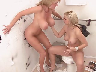 A hole with an erected dick is juts what Sarah and Kelly want!