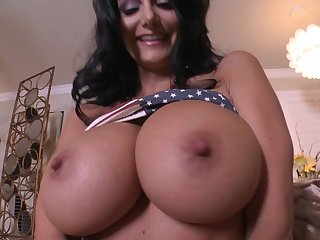 Massive breasts milf Ava Addams fucks him passionately