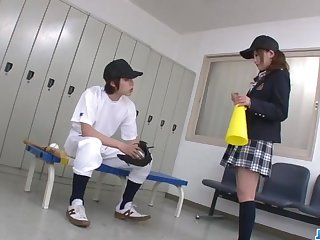 Miku Airi Asian schoolgirl blows a big dick