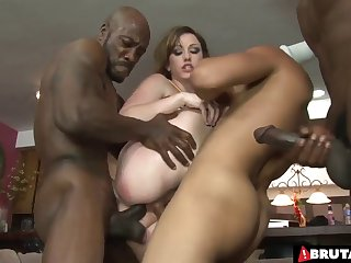 Cheerleader Jennifer White gangbanged by black football players