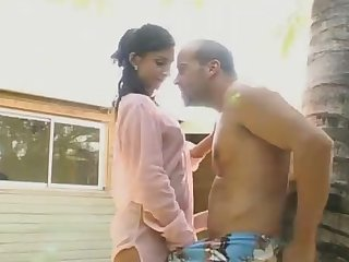 Melanie Gets Her Sexy Ass Fucked Hard Outdoors up against a Tree