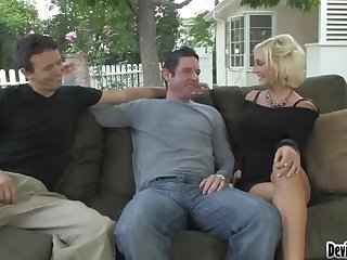 Bisex Three-Way With 2 Guys & 1 Chick.