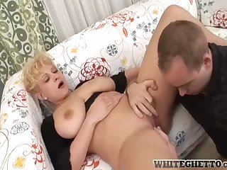 Ttricky guy fucks his step mom and fills her pussy with cum