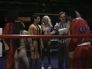 This is a sexwrestling competition with bunch of good sexers