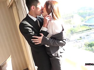 Hotel meeting and a hot ass fucking with his Asian tranny slut