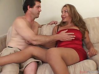 Lauren Dikarlo the horny shemale babe gets ass fucked and creampied